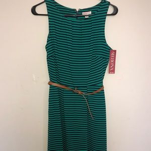 Merona Striped dress with belt
